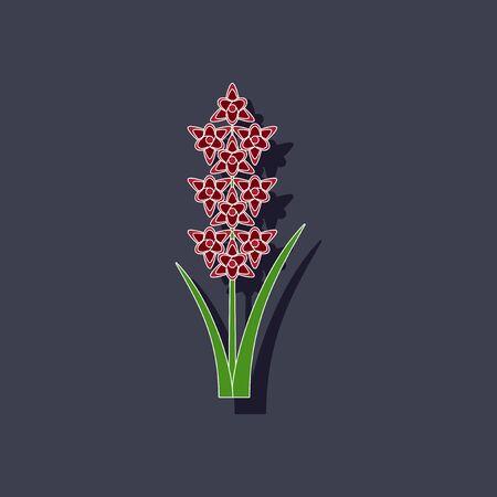 Papieraufkleber auf Hintergrund von Gladiolen Standard-Bild - 78410276