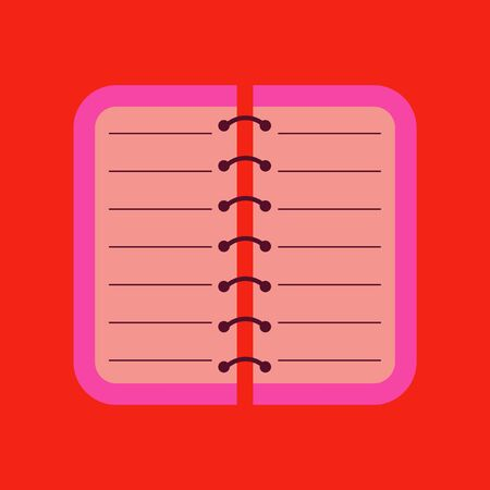 open notebook: flat icon on background spiral notepad notebook Illustration