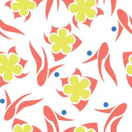 Bright floral abstract pattern
