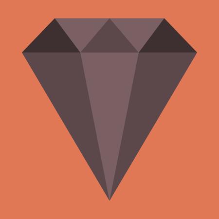 flat icon on stylish background diamond expensive jewelery