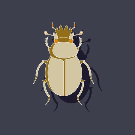paper sticker on background of scarab Illustration