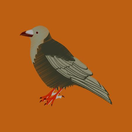 flat shading style icon raven