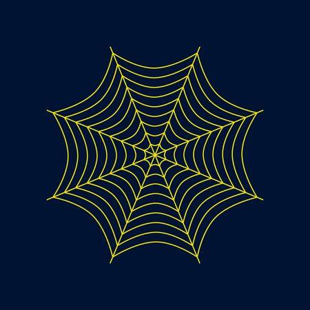 vlakke afbeelding op de achtergrond van spinnenweb Stock Illustratie