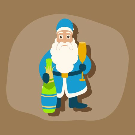 paper sticker on stylish background Santa Claus Иллюстрация