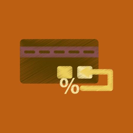christmas debt: flat shading style icon bank card