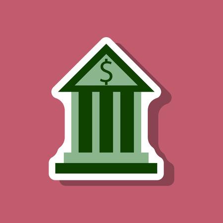 paper sticker on stylish background business bank building Illustration