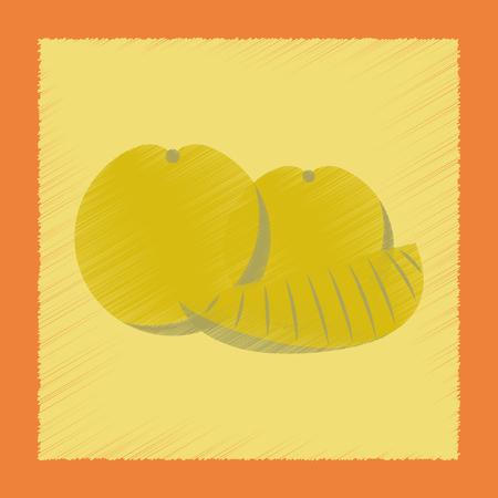 flat shading style icon orange slice