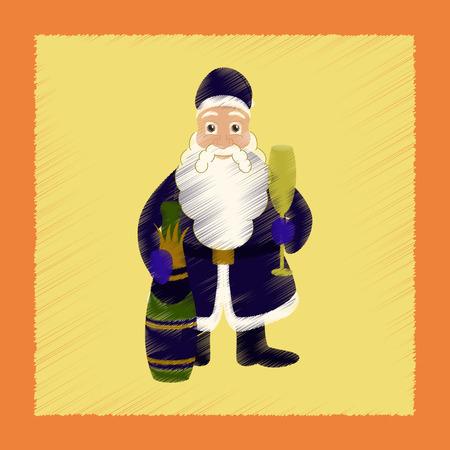 フラット シェーディング スタイル アイコン サンタ クロース  イラスト・ベクター素材