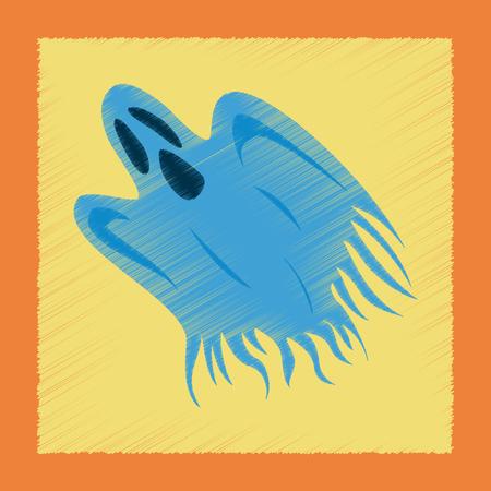 flat shading style icon ghost Ilustrace