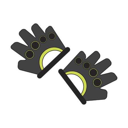 flat icon on stylish background Gloves for the gym