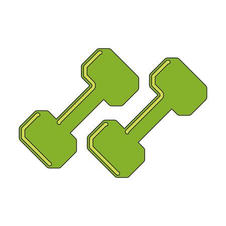 barbel: flat icon on stylish background dumbbells