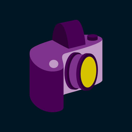 Technology gadget in flat design camera Illustration