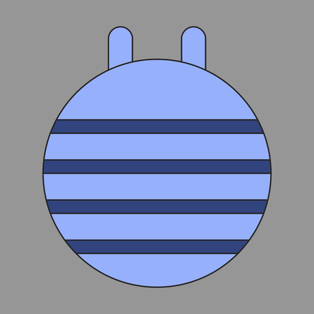aerobic training: Icon in flat design Fitball Illustration
