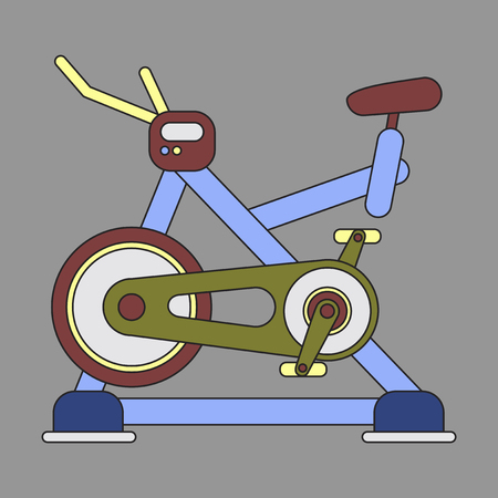 Icon in flat design Bicycle exercise