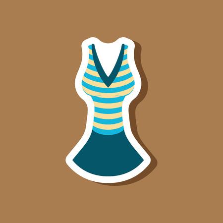paper sticker fashion clothes summer dress