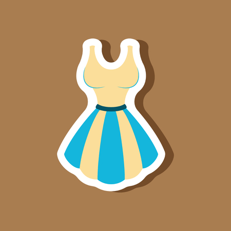 paper sticker fashion clothes fluffy dress
