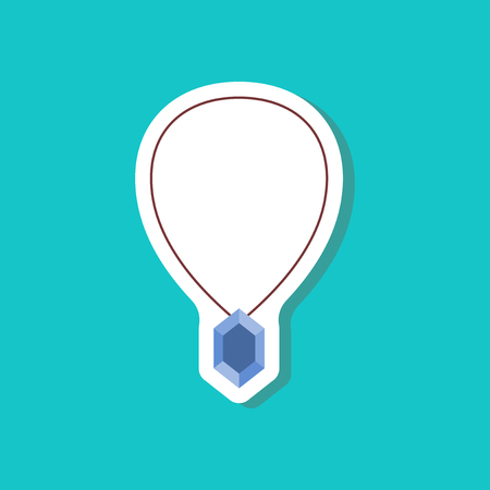 sapphire gemstone: paper sticker fashion clothes Necklace with precious stone