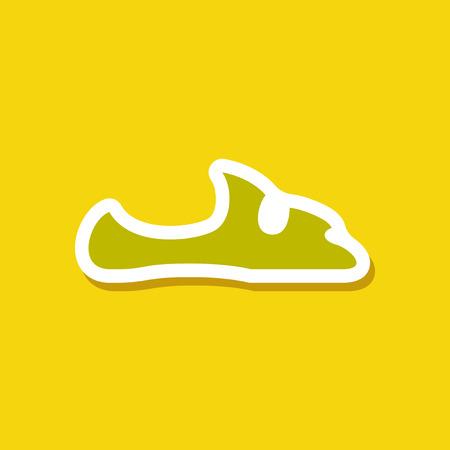 paper sticker fashion footwear flip flops Stock Photo