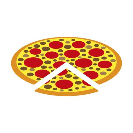 Icon in flat design for restaurant pizza