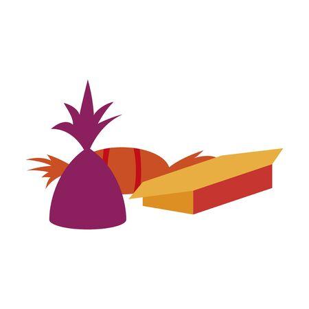 Icon in flat design for restaurant chocolate candies Reklamní fotografie