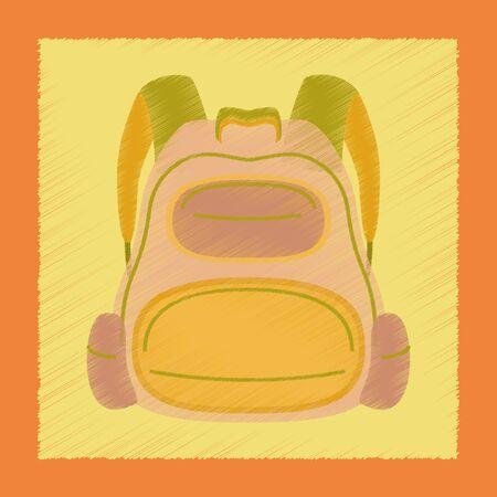 bookbag: flat shading style icon school fashionable bag Illustration