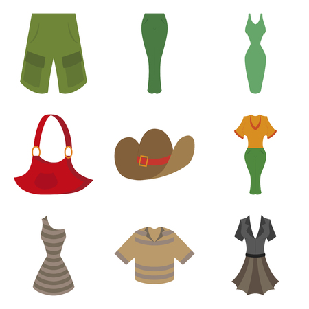 assembly flat icons clothes
