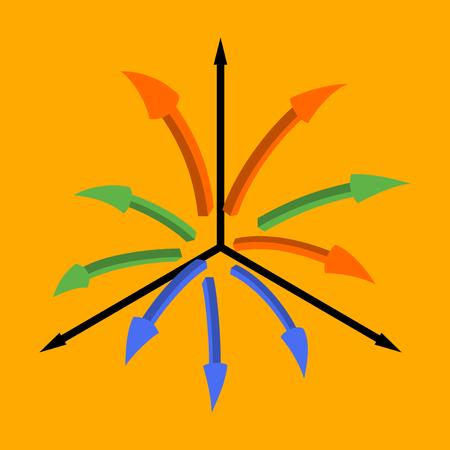 cultivate: flat icon on stylish background Arrow chart Illustration
