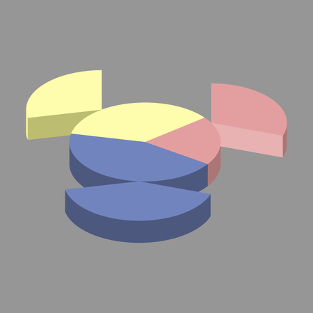 flat icon on stylish background Pie chart Illustration