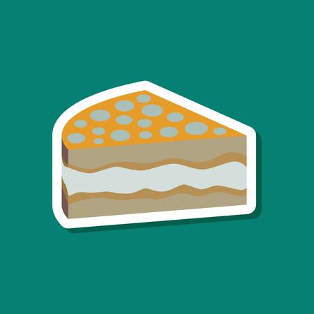 Sweet dessert in paper sticker cake
