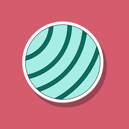 paper sticker on stylish background Fitball