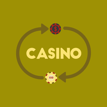 flat icon on stylish background casino chips