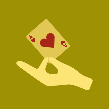 flat icon on stylish background hand playing cards Illustration