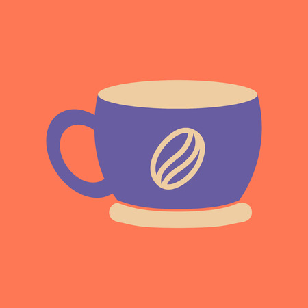 A flat icon on background coffee cup flavor.
