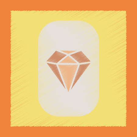 flat shading style icon diamond symbol Illustration