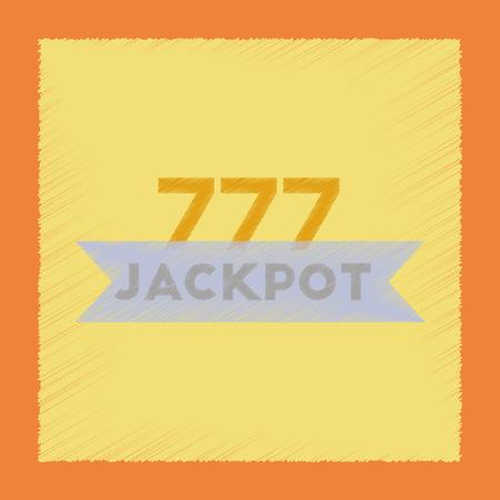 Flat shading style icon jackpot Lucky seven Illustration