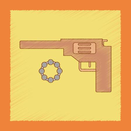 flat shading style icon Kids pistol