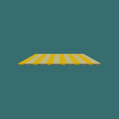 Icon in flat design Roof awning
