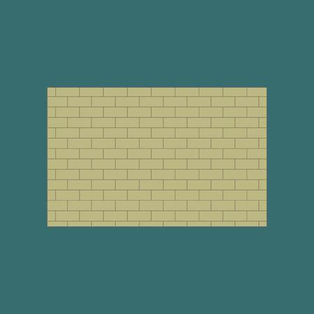 Icon in flat design Brick wall 向量圖像