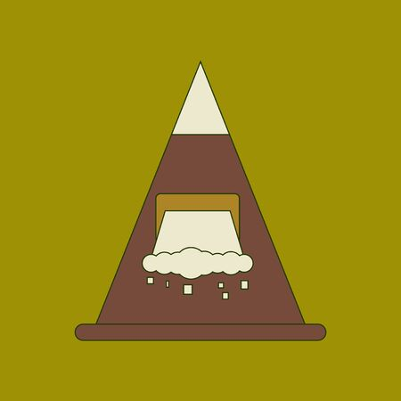 A flat icon stylish background snow avalanche.