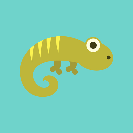 A flat icon on background lizard reptile.