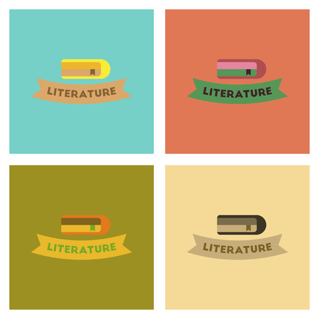 poems: assembly flat icons Literature lesson