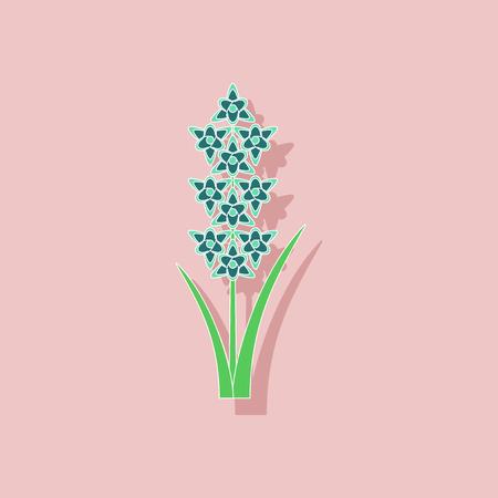 Papier Aufkleber auf Hintergrund von Gladiolen Standard-Bild - 81473353