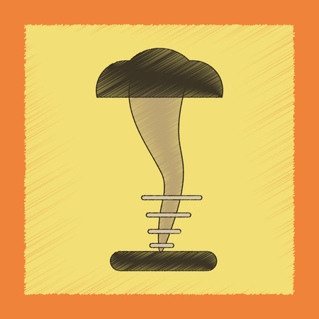 A flat shading style icon disaster tornado. Illustration