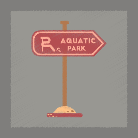 flat shading style icon sign aquatic park Illustration