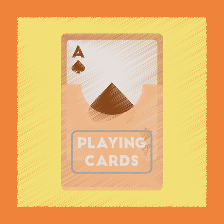 flat shading style icon playing cards Illustration