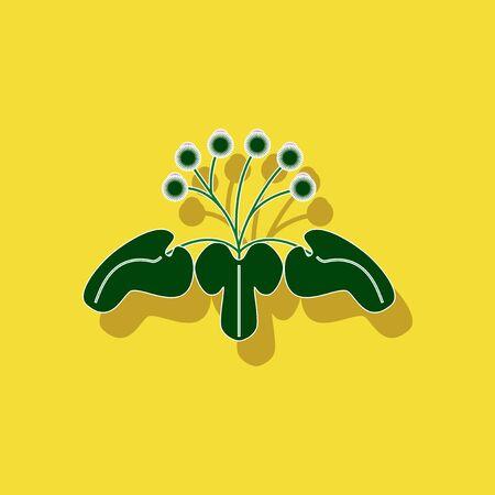 paper sticker on stylish background plant Arctium