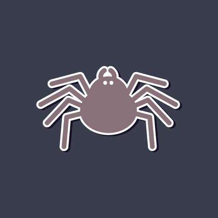 paper sticker on stylish background halloween spider Illustration