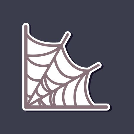 paper sticker on stylish background spiders web Иллюстрация