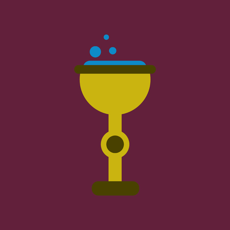 elixir: flat icon on background of cup potion Vectores