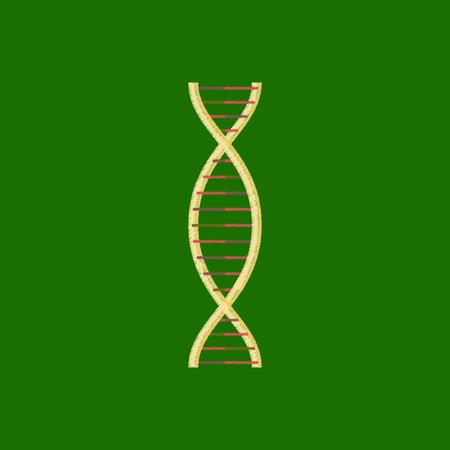 flat shading style icon DNA